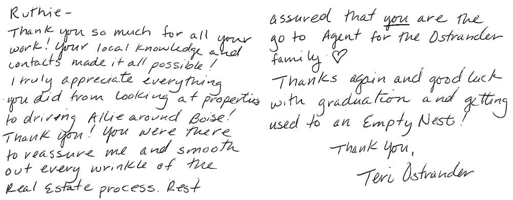 ruthie-testimonial-boise-real-estate-agent